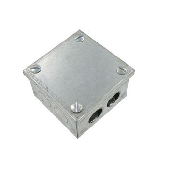 225mm x 225mm x 75mm Galvanised Knock Out Box KO99