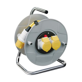 25m Standard AK 260 110V Cable Reel 2x16A 3x1.5mm Ø:260mm Yellow brennenstuhl 1098743