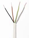 4 x 2.5mm NYM-J Industrial Electrical Cable (Per 1mtr) Black / White Sheath