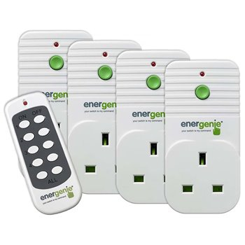 ENERGENiE Remote Controlled Sockets 13A 4 Pack ENER002