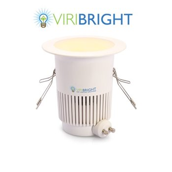 Viribright 8W LED Downlight 2800K WW 550Lm Dimmable 80° 25,000Hrs - 73638