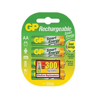 GP Smart Energy Rechargeable AA 1000mAh 4 Pack GP-145452