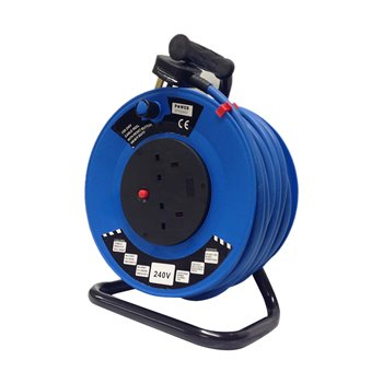 40M 220v-240v Extension Cable Reel 3x2.5mm Artic Flex-2x13A Sockets