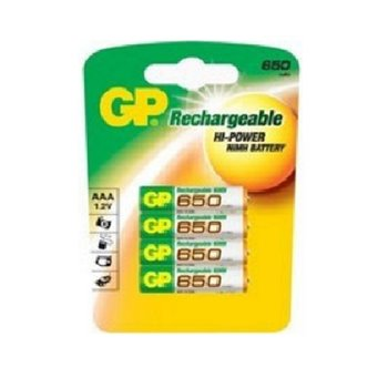 GP Smart Energy Rechargeable AAA 650mAh 4 Pack GP-119637