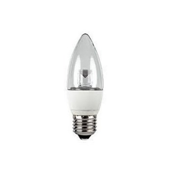 5W LED Candle Lamp C37 E27 Clear 2700K Dimmable (=27W) EVO Light-EVO0046