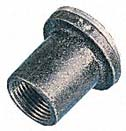25mm flanged Galvanised coupler