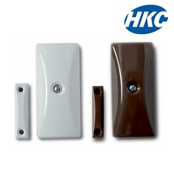 HKC Alarm Panel Inertia Shock Sensor+Contact (Reed) For Door/Window | WHITE HKCSEN-WR