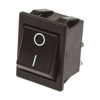 Rocker Switch On-Off DPST 16Amp 220-240V AC 30mm 22mm Panel Mounted 278-9828